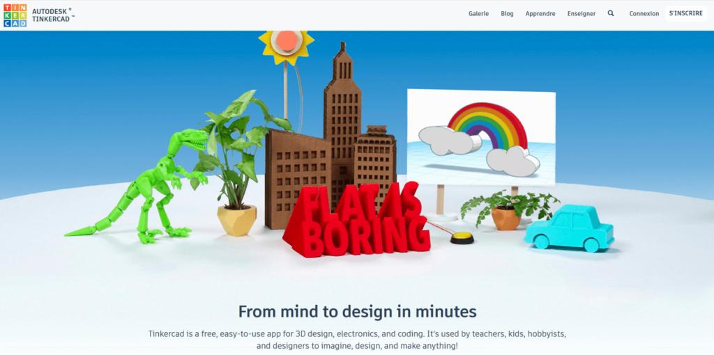 Tinkercad pour créer des modèles 3D